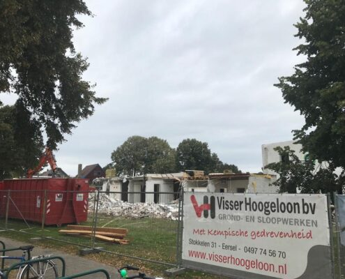 We zijn gestart met de sloopwerkzaamheden van een oud zorggebouw.